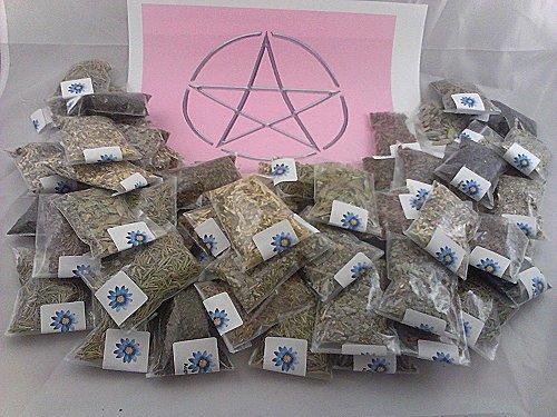 lisas-creations-inc-70-herb-sampler-kit-with-handmade-muslin-bag-3x3-and-charm
