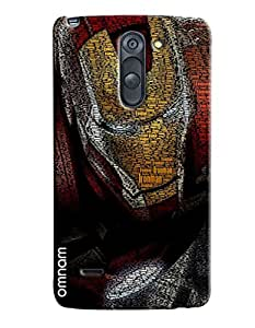 Omnam Iron Man Embossed Iron Man Printed Designer Back Cover Case For LG G3 Stylus