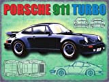 PORSCHE 911 TURBO CLASSIC CAR LARGE METAL SIGN 12