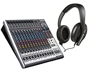 behringer xenyx x2442usb mixer with sennheiser hd 202ii headphones musical. Black Bedroom Furniture Sets. Home Design Ideas