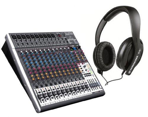 Behringer Xenyx X2442Usb Mixer With Sennheiser Hd 202Ii Headphones