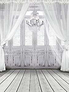 200CM*150CM Photography Backdrop Fundo White Chandelier Doors 3D Baby Photography Backdrop Background LK 2086