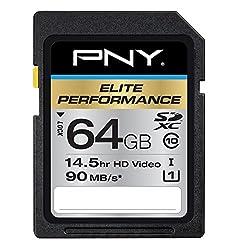 PNY 64GB SDXC Elite Performance UHS-1 90MB/sec