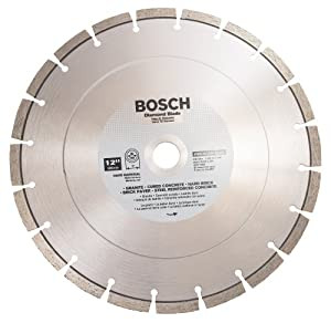 Bosch DB1264 Premium Plus 12-Inch Dry or Wet Cutting Segmented Diamond Saw Blade with 1-Inch Arbor for Granite at Sears.com