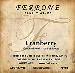 NV Ferrone Family Winery White Cranberry 750 mL