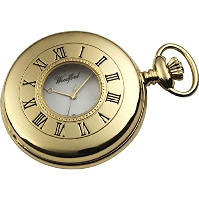 Woodford Pocket Watch 1079 Gold Plated Half Hunter