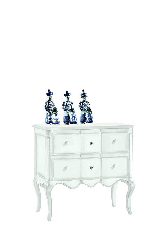 Lo Scrigno Arredamenti, Comò 2 cassetti provenzale Classico laccato bianco W1301/L