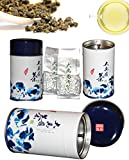 Zone - 365 Loose Leaf Oolong Tea, Green Tea, Wu Long Formosa Tea High Mountain Da Yu Ling Tea Bulk 75 Gram (Pack of 2) Fresh Sealed Tea Bags for Infusers, Slow Brew, and Cold Brew from Zone - 365