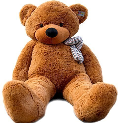 Joyfay-78-Giant-Teddy-Bear-Dark-Brown-Absolutely-HUGE-Teddy-Bear-And-One-Of-Our-Best-Sellers-Its-65-Feet-Tall-And-Weighs-18-LBS-This-Stuffed-Toy-The-Softest-And-The-Plushiest-Gentle-GIANT-You-Will-Eve