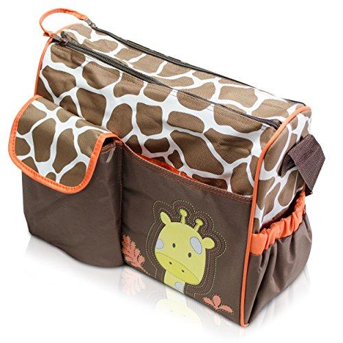 Wickeltasche mit Giraffen-Muster, braun thumbnail