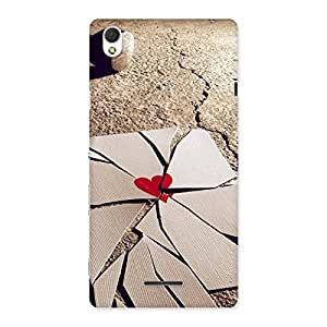 Premium Broken Heart Ace Print Back Case Cover for Sony Xperia T3