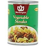 Worthington Vegetable Steaks, Low Fat, 20-Ounce Cans (Pack of 12) ~ Worthington