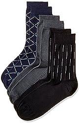 Arrow Men's Paisley Knee-high Socks (Pack of 3) (8904135547893_Multicoloured)
