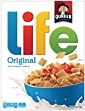 Quaker Life Cereal, Original, 13-Ounce Boxes (Pack of 4)