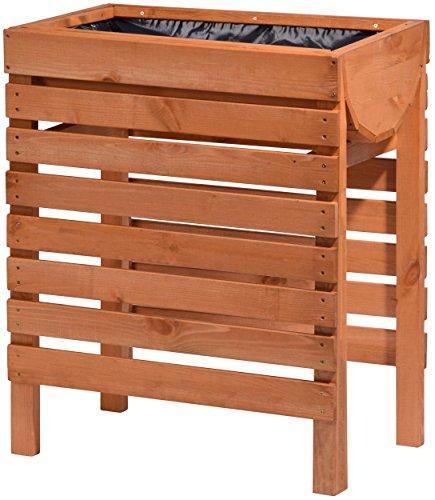 dobar-Dekoratives-Hochbeet-aus-Holz-Kiefer-braun-fr-Garten-Tischbeet-Bausatz-fr-Gemse-Kruter-Blumen-Beet-Pflanzbeet-fr-Terrasse-Balkon