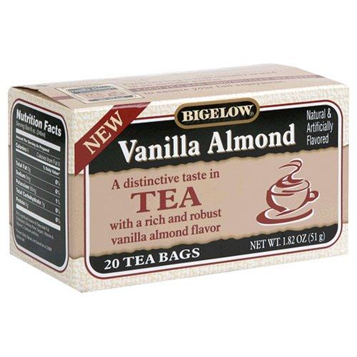 Buy Bigelow Vanilla Almond Tea, Tea Bags, 20-Count Boxes (Pack of 12) (Bigelow, Health & Personal Care, Products, Food & Snacks, Beverages, Tea, Black Teas)
