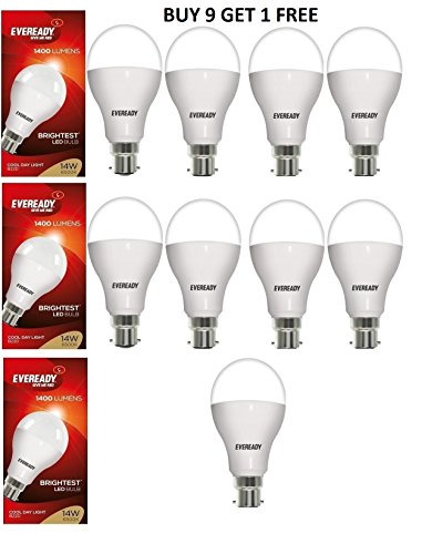 4W LED Bulbs (White, Pack of 9)