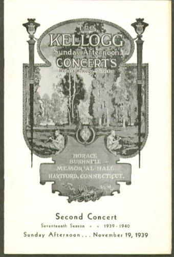 Pianists Vronsky & Babin Bushnell Program Hartford Ct 1939