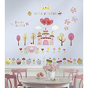 RoomMates Repositionable Childrens Wall Stickers Happi Cupcake Castle