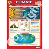 Climate Geography Educational Wall ChartPoster in laminated paper A1 850mm x 594mm