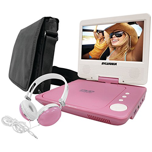 Sylvania SDVD7060-Combo-Pink 7-Inch Portable DVD Player Bundle with Matching Oversize Headphones and Deluxe Travel Bag (Pink) (Portable Dvd Player Kids compare prices)