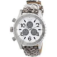 Nixon NIXON-A037843-00 Mens 42-20 Chrono White Genuine Python Watch