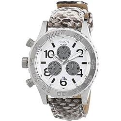Nixon NIXON-A037843-00 Mens 42-20 Chrono White Genuine Python Watch