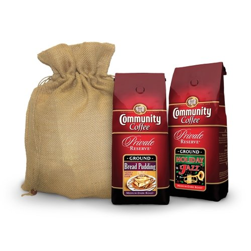 Community Coffee Company Private Reserve Holiday Duo Gift Set, 1.5-Pound