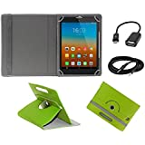 ECellStreet 360° Degree Rotating 7 Inch Flip Cover Diary Folio Case With Stand For Samsung Galaxy Tab 4 T231Tablet...