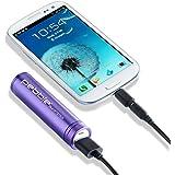Veho 2200mAh Pebble Smartstick Emergency Portable Battery for iPhone/Blackberry/Samsung/HTC/Nokia - Purple