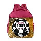 World Series Of Poker WSOP Logo Kids School Pink Backpack Bag