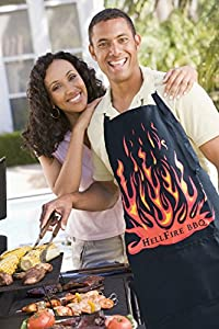 Black Apron Big Full Size Adult With 2 Large Pockets -- Men Or Women Who BBQ Or Cook In Kitchens Love This Fun Accessory's Attitude -- Premium Quality XL Long Bib Apron
