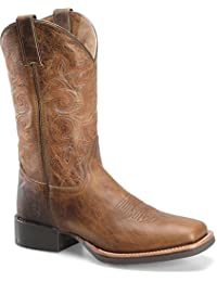 DH5600 Double H Men's 12IN Distressed Western Ropers - Tan