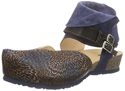 Think!Kessy Sandale - Sandali con Cinturino alla Caviglia Donna , Blu (Blau (JEANS 83)), 39