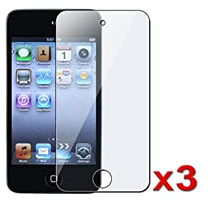 3 LCD Screen protectors For Apple iPod touch 4G 4th gen