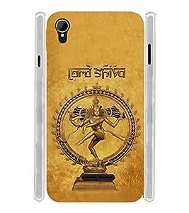 Lord Nataraj Shiva Soft Silicon Rubberized Back Case Cover for Intex Aqua Power 4G