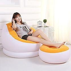 Tuzech Portable Inflatable Chair Cum Recliner