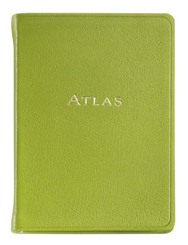 Graphic Image The Traveler's Atlas, Goatskin Leather Lime (AUWMRBLGTILIM)