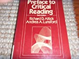 Preface to Critical Reading (0030613736) by Altick, Richard D.