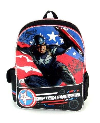 "Captain America - 16"" Backackpack - Great Bravery - 1"