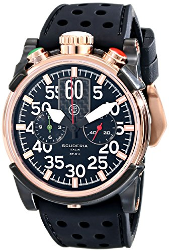 CT-Scuderia-Mens-CS10103-Analog-Ronda-Swiss-Made-Black-Silicon-Watch