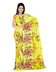 Anand Sarees Faux Georgette Self Print Saree - B013P1Y4NE