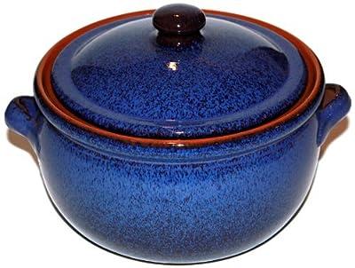 Amazing Cookware 3 Litre Reactive Terracotta Stew Pot Blue by Amazing Cookware