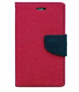 D'clair Mercury Flip cover Dark Pink For HTC 516