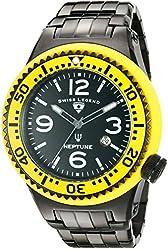 Swiss Legend Men's 21819P-BB-11-YB Neptune Force Analog Display Swiss Quartz Black Watch