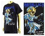 オフィシャル ライセンス OFFICIAL LICENSE カニエウェスト ジャスティンビーバー着用 Metallica メタリカ ロックTシャツ メンズ MET2006メタリカ ブラック M