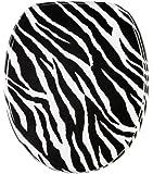 WC Sitz mit Absenkautomatik, hochwertige Oberfläche, einfache Montage, stabile Scharniere, Zebra Look