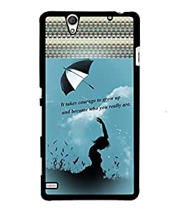 Fuson 2D Printed Quotes Designer back case cover for Sony Xperia C4 - D4133