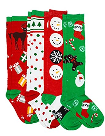 Amazon.com: Caramel Cantina Knee High Festive Holiday ...