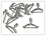 10 x Antique Silver Plated COAT HANGER Charms Jump rings included for attachments Universal use for Jewellery Card Making FASHION CHARMS Ref10A71